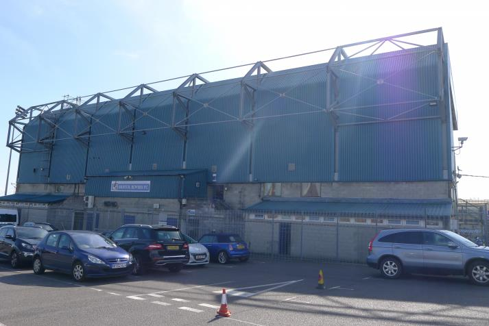 east stand, rear