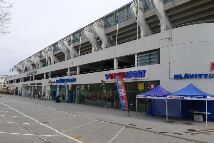 west stand, rear