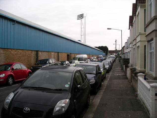 rear of gordon road stand