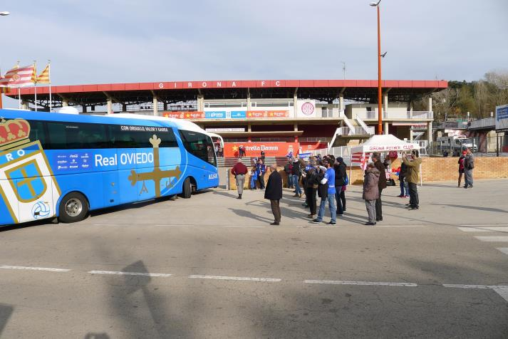 real oviedo arriving
