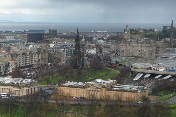 edinburg, view