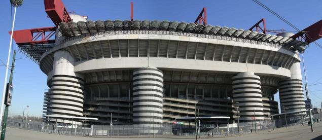 rear of curva sud