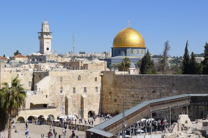 western wall and the dome of the rock2