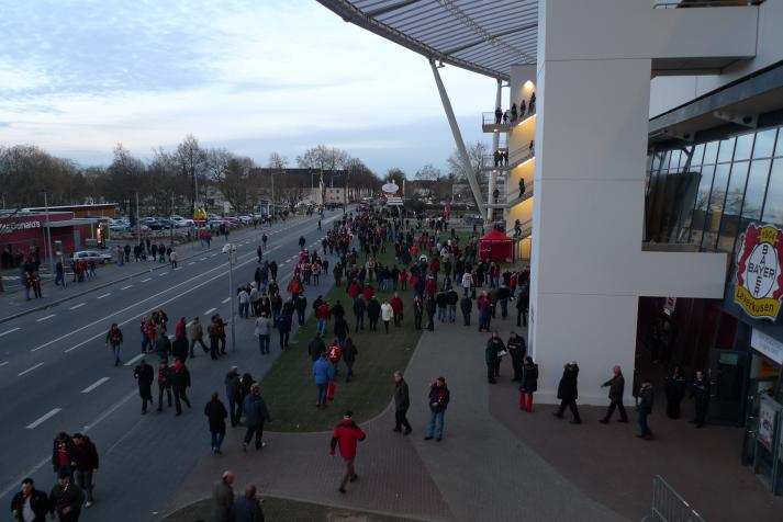 fans outside the ground