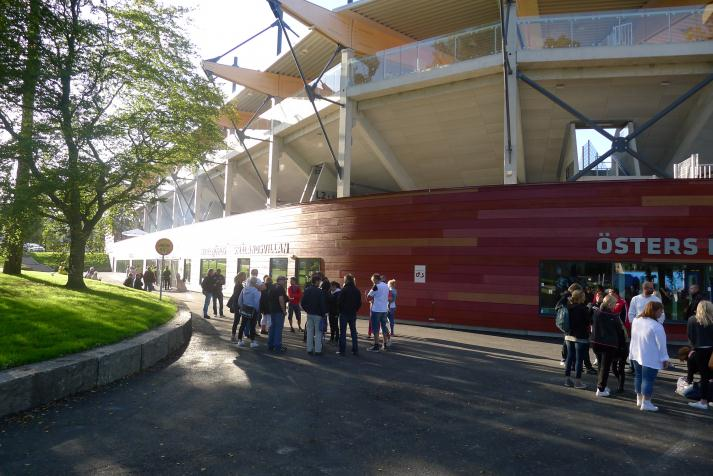myresjöhus arena, outside