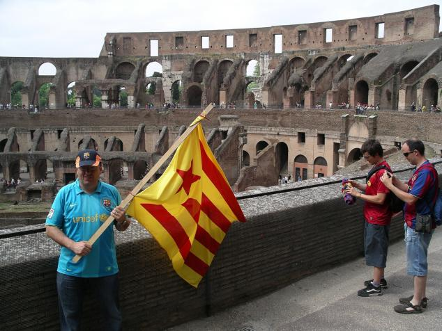 barca fans, colosseo