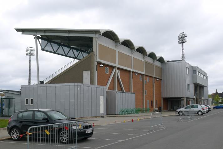 south stand, rear