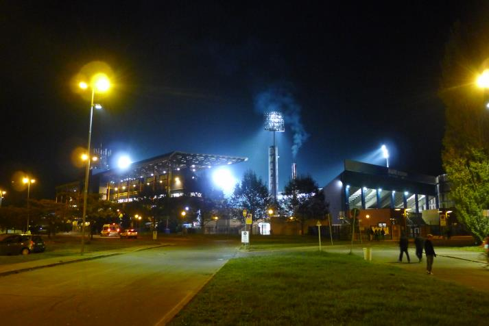 mapei stadium. night