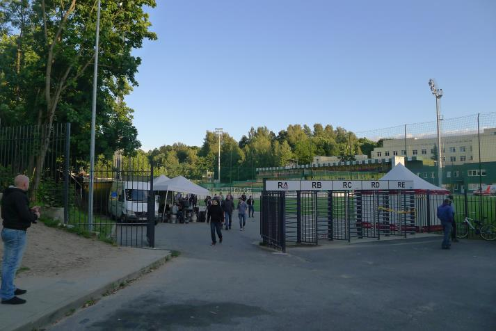 lff stadionas, entrance